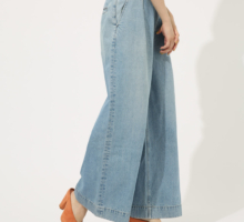 ONE TUCK DENIM WIDE