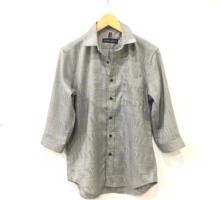 グレンチェック七分袖シャツ