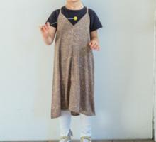 半袖 ワッフル Tシャツ キャミワンピース セットワンピース