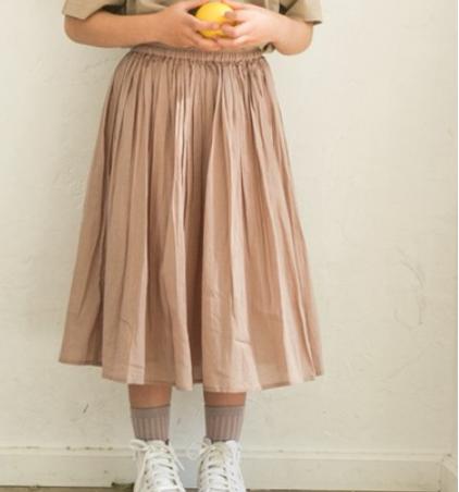 インド綿 コットン ロング ボイルスカート