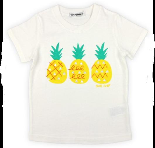 【bab chip】天竺 Tシャツ パインアップル