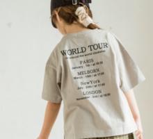 オリジナル シンプル ロゴ イラスト プリント 半袖 Tシャツ